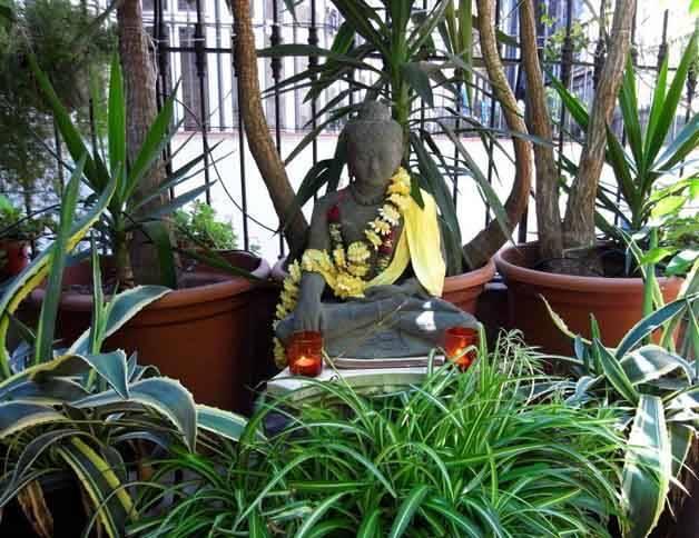 bcn fashion house buddha on terrace