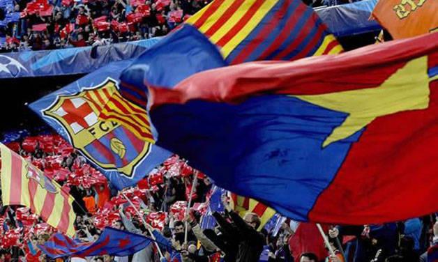 Barça flags camp nou