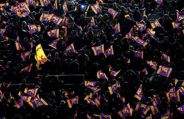 Barça flags