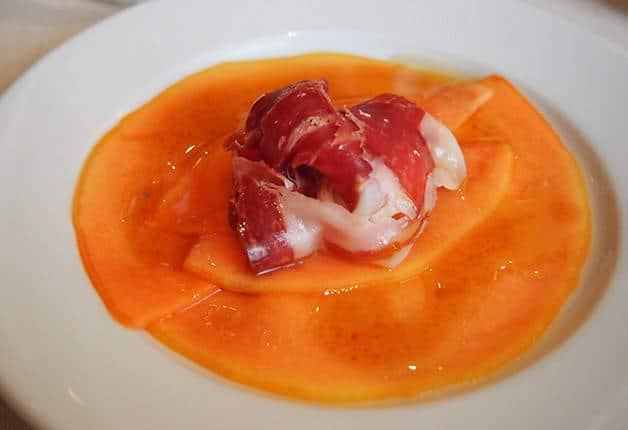 la-Palmera starter with iberica ham