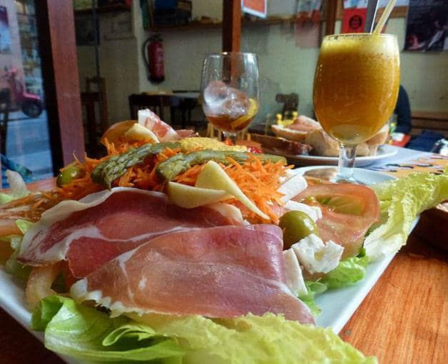 la nena charcuterie and salad plate