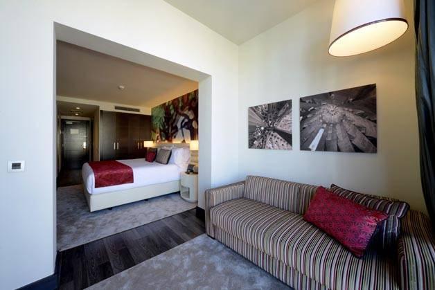 Hotel Indigo living room bedroom