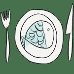 plate fish illustration