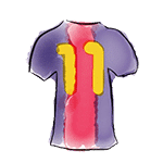 drawing of jersey-11 barça