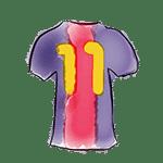 drawing of jersey-11 barça