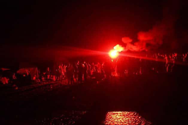 Sant Joan beach fire
