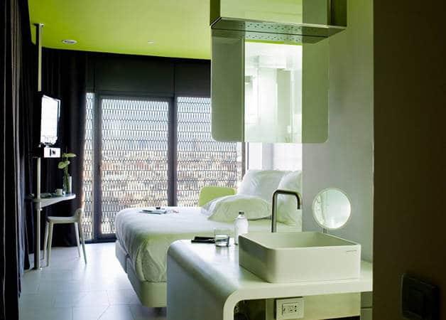 barcelo raval green bedroom