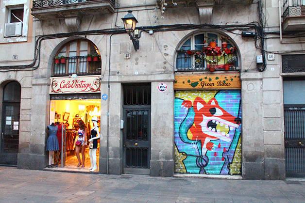 Gothic Raval shop fronts