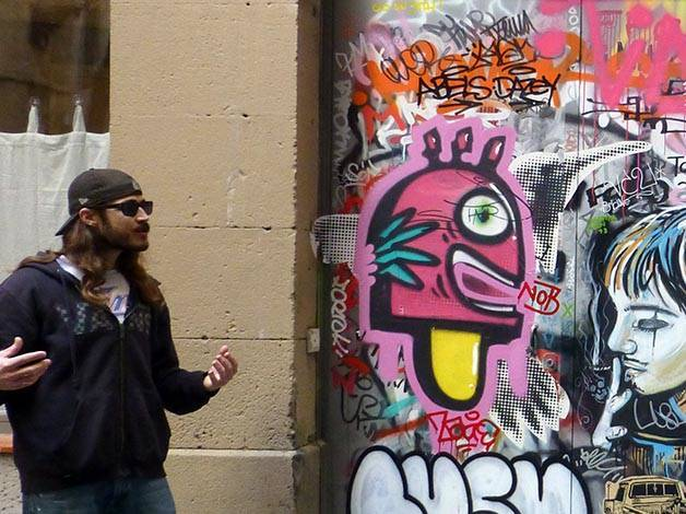 Barcelona street art with Mike