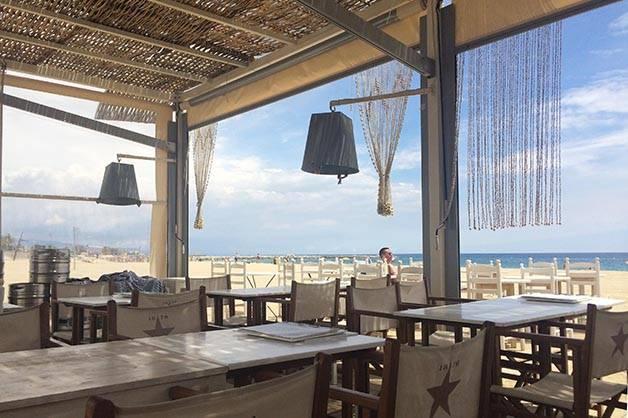 Barcelona beach bar