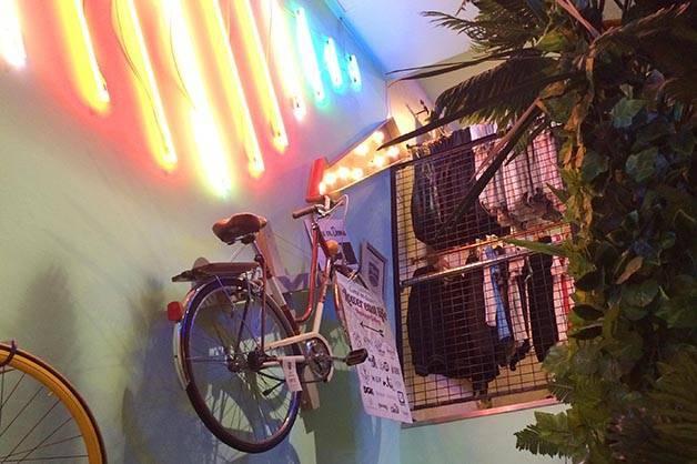 flamingos gallery bike wall