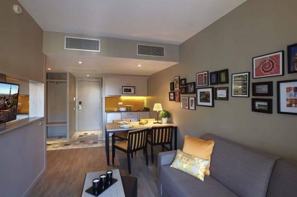 apartment living room citadines ramblas