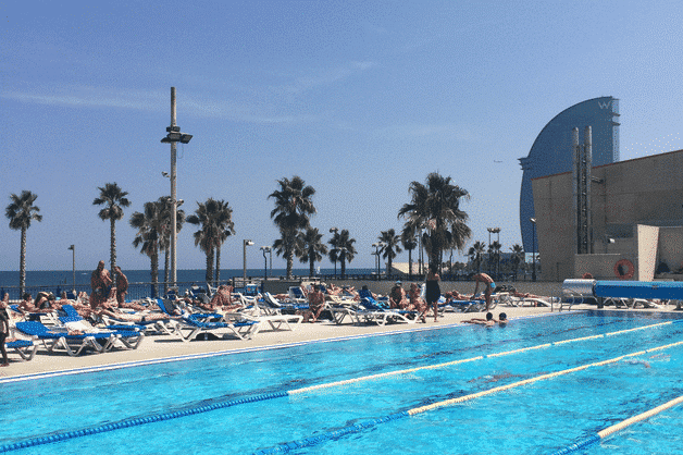 open-air pools in Barcelona, cnab