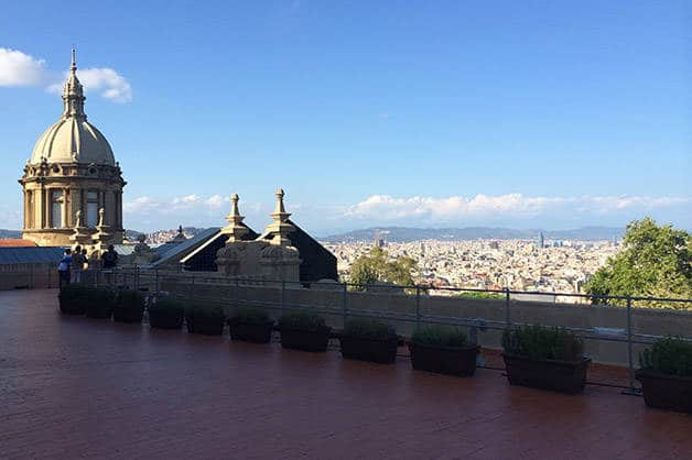 mnac terraca and view