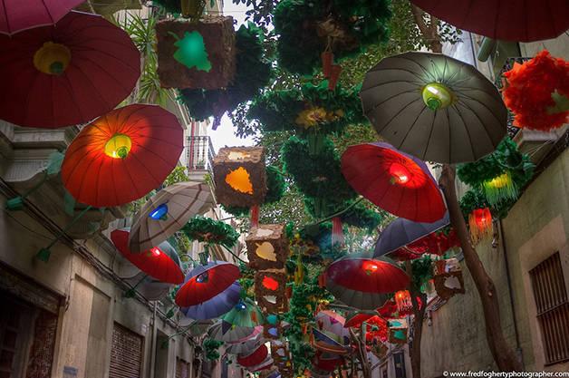 Parasols festes majors Gràcia free activities