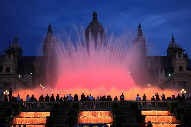 magical fountain Montjuïc