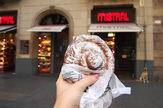 ensaimada at the Mistral bakery