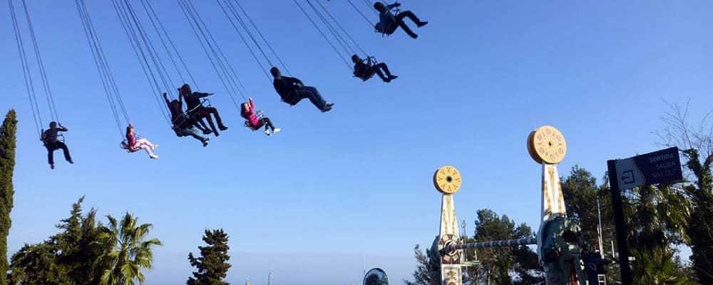tibidabo chairs Barcelona with children