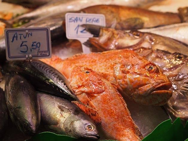 market Barcelona mercat santa caterina fish