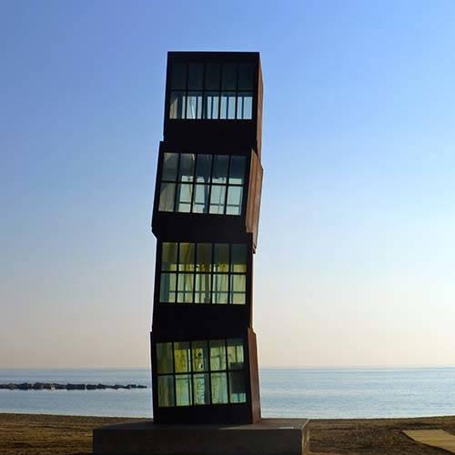 seaside sculpture Barcelona beach