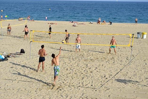 beach volleyball Barcelona seaside