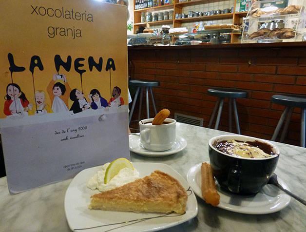 hot chocolate and cake la nena
