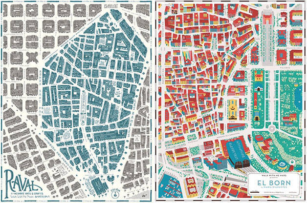 Barcelona quarter maps Grey Street