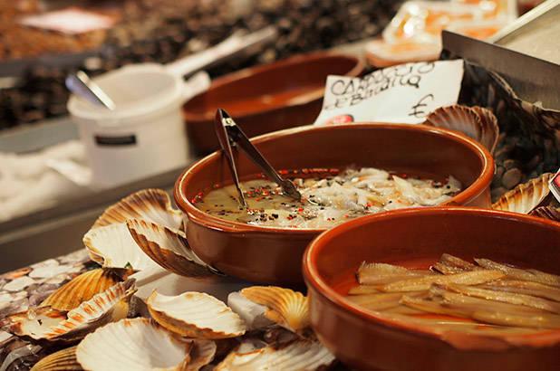 seafood la Boquería market