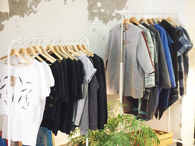 lantoki garments on hangers