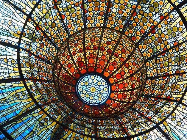 palau de la musica architecture in Barcelona
