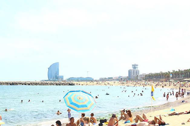 beach barceloneta july season Barcelona