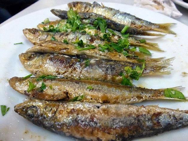 sardines at la cova fumada