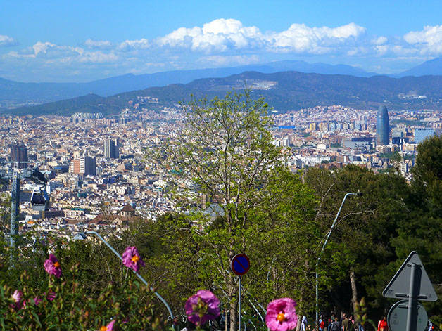 montjuic: sport and nature view of Barcelona