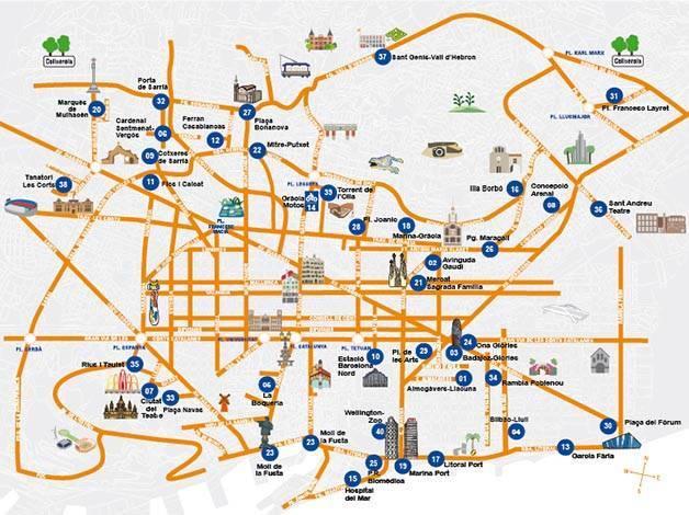 map.cheap parking BSM barcelona