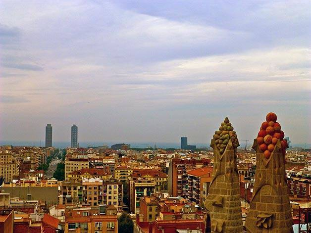 sagrada familia view from towers