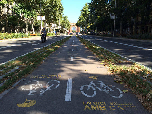 cycle lanes in Barcelona