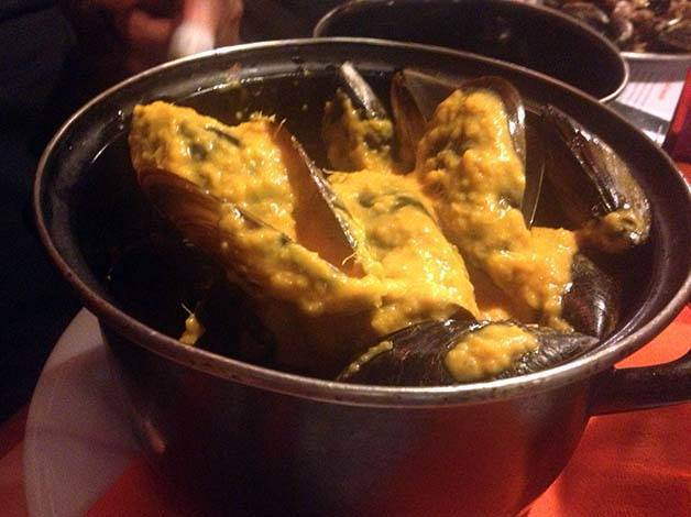 ginger mussels La Muscleria