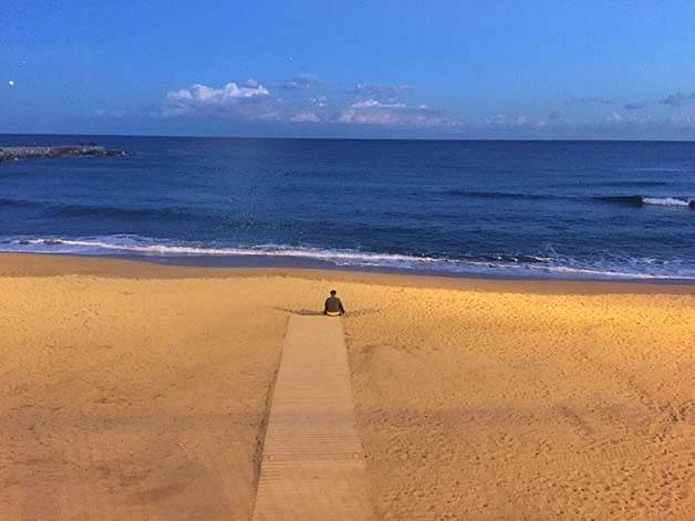 empty beach stay february