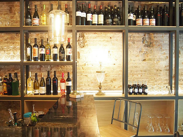 Agust dining area and shelves