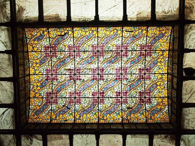 stained glass rooflight Casa Amatller