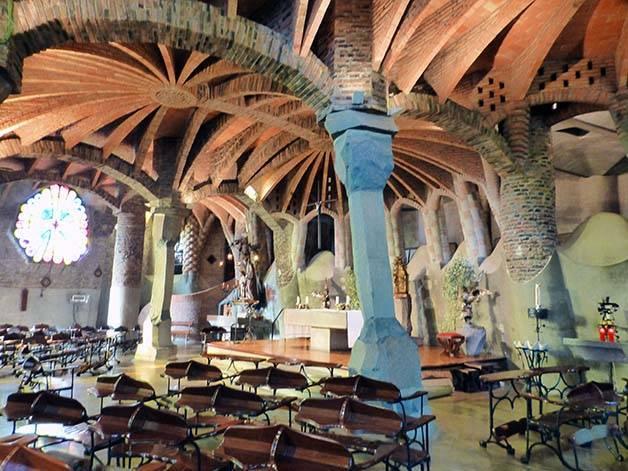 colonia-guell-interior June in Barcelona