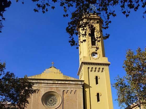 Sarrià church Corts area