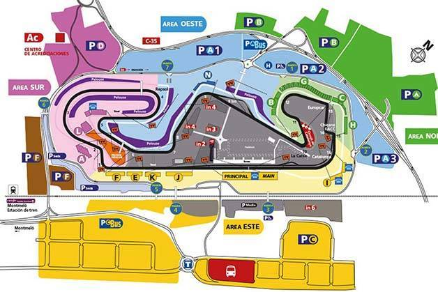 map circuit Spanish grand prix formula1