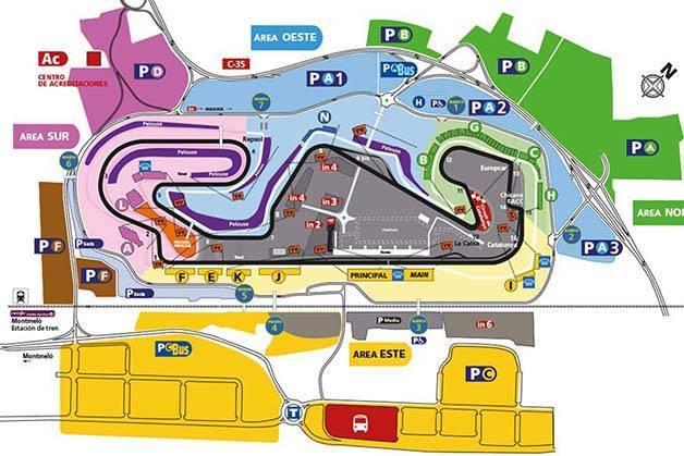 map circuit Spanish grand prix formula1