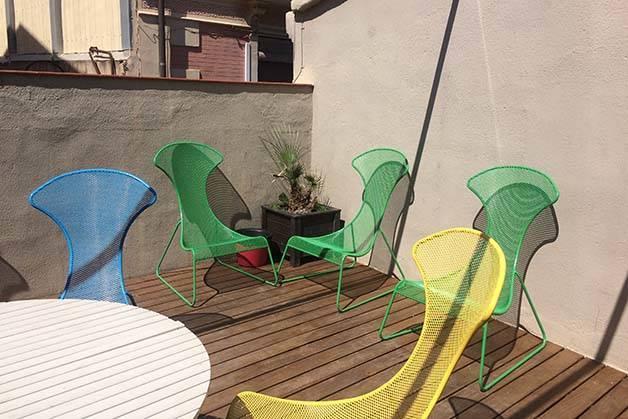 amistat beach hostel terrace