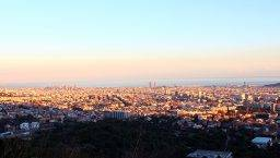 february view of Barcelona