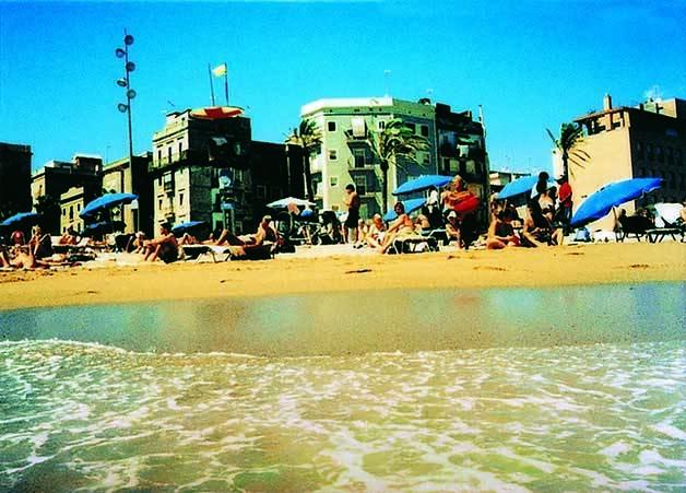 postcard barceloneta wawas Barcelona