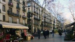 first weekend in Barcelona, Ramblas
