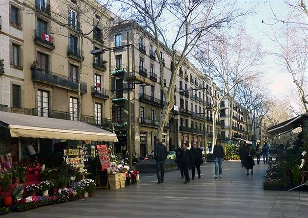 first weekend in Barcelona, Ramblas