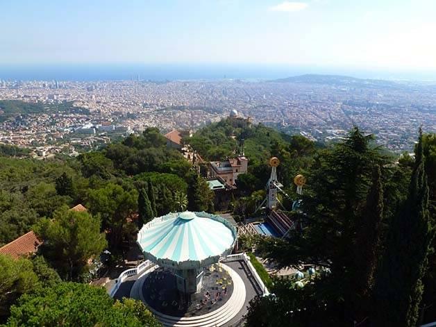 tibidabo Barcelona view